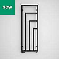 Terma Simple 400W Electric Heban Black Towel warmer (H)1080mm (W)500mm