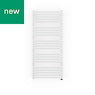 Terma Alex 600W Electric White Towel warmer (H)1140mm (W)500mm