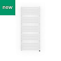 Terma Alex 600W Electric White Towel warmer (H)1140mm (W)500mm