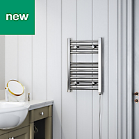 Terma Leo 150W Electric Towel warmer (H)600mm (W)400mm