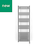 Terma Leo 600W Electric Towel warmer (H)1800mm (W)600mm