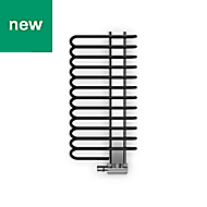Terma Michelle Black Towel warmer (H)1200mm (W)500mm