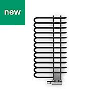 Terma Michelle Black Towel warmer (H)1200mm (W)500mm