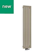 Terma Aero Vertical Designer radiator Quartz Mocha Powder Paint (H)1800 mm (W)410 mm