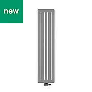 Terma Aero Vertical Designer radiator Salt & Pepper Powder Paint (H)1800 mm (W)410 mm