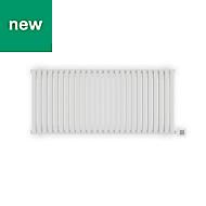 Terma Nemo Electric Horizontal Designer radiator Sea Salt White Powder Paint (H)530 mm (W)1185 mm