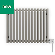 Terma Triga Electric Horizontal Designer radiator Metallic Stone Powder Paint (H)560 mm (W)680 mm