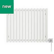 Terma Triga Electric Horizontal Designer radiator Sea Salt White Powder Paint (H)560 mm (W)680 mm