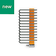 Terma Michelle Graphite & Orange Towel warmer (H)780mm (W)400mm