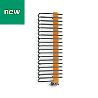 Terma Michelle Graphite & Orange Towel warmer (H)1200mm (W)500mm