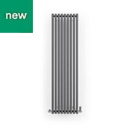 Terma Rolo Room Vertical/horizontal Designer radiator Modern Grey Powder Paint (H)1800 mm (W)480 mm