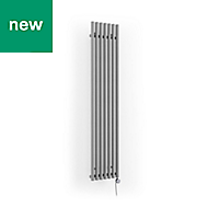 Terma Rolo Room Electric Vertical/horizontal Designer radiator Salt n Pepper Powder Paint (H)1800 mm (W)370 mm