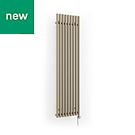 Terma Rolo Room Electric Vertical/horizontal Designer radiator Quartz Mocha Powder Paint (H)1800 mm (W)480 mm