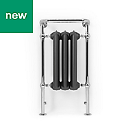 Terma Plain Raw metal Towel warmer (H)940mm (W)490mm