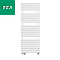 Terma Rolo Towel White Towel warmer (H)1360mm (W)520mm