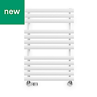 Terma Rolo Towel White Towel warmer (H)755mm (W)520mm