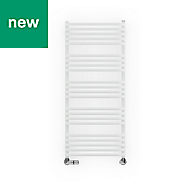 Terma Alex White Towel warmer (H)1140mm (W)500mm