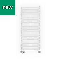 Terma Alex White Towel warmer (H)1140mm (W)500mm