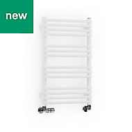 Terma Alex White Towel warmer (H)760mm (W)500mm