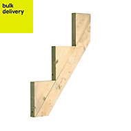 Softwood 3 step riser (L)813mm