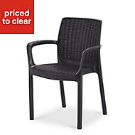 Bali Dark grey Plastic Chair