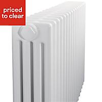 Acova 4 Column radiator, White (W)628mm (H)300mm