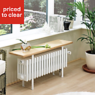 Acova 4 Column radiator, White (W)800mm (H)455mm