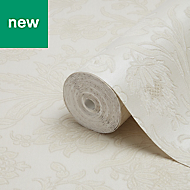 Fine Décor Verona Beige Floral Glitter Wallpaper