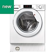 Hoover HBWD 7514DA-80 White Built-in Condenser Washer dryer