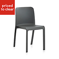 Grana Anthracite Plastic Garden Chair