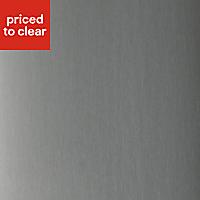 Designair Stainless steel Splashback, (H)750mm (W)900mm (T)10mm