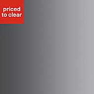 Designair White Glass effect Stainless steel Splashback (W)670mm