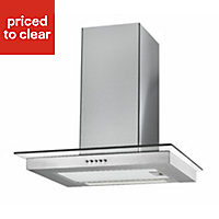 Cooke & Lewis FG60SS Glass & stainless steel Box Cooker hood, (W)60cm