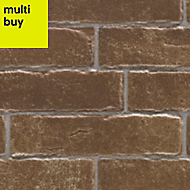 Dauco Cotto brown Matt Stone effect Clay Wall tile, Pack of 12, (L)500mm (W)250mm
