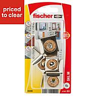 Fischer Steel Mirror fixing (L)30mm (Dia)6mm, Pack of 4