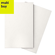 Iris White Gloss Ceramic Wall tile, Pack of 10, (L)400mm (W)250mm