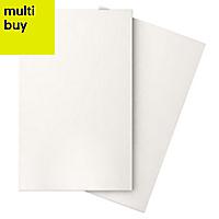 Iris White Gloss Ceramic Wall tile, Pack of 10, (L)400mm (W)250mm