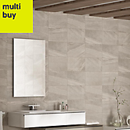 Fiji Grey Matt Stone effect Ceramic Wall tile, Pack of 10, (L)400mm (W)250mm
