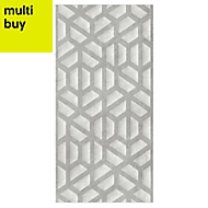 Manhattan Grey Matt Ceramic Wall tile, Pack of 5, (L)600mm (W)300mm