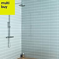 Windsor Blue Gloss Ceramic Wall tile, Pack of 30, (L)300mm (W)100mm