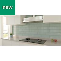 Windsor Sage Gloss Ceramic Wall tile, Pack of 30, (L)300mm (W)100mm