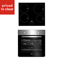 Beko QSE224X Stainless steel Single Multifunction Oven & induction hob pack