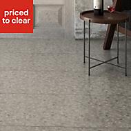 Terrazzo Grey Matt Marble effect Porcelain Floor tile, Pack of 5, (L)450mm (W)450mm
