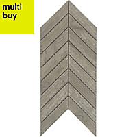 Chevron mosaic Brown Matt Wood effect Porcelain Wall & floor tile, (L)300mm (W)155mm