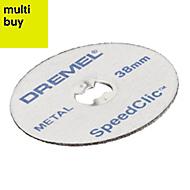Dremel SpeedClic Metal Cutting disc (Dia)38mm, Pack of 12