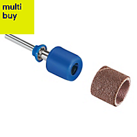 Dremel 60-240 grit Sanding band & mandrel (Dia)13mm, Pack of 3