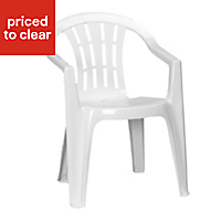 Cuba White Plastic Chair