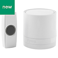 Byron White Wireless Battery-powered Door chime kit