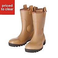 Dunlop Black & tan Rigger boots, Size 7