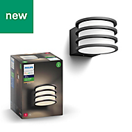 Philips Hue Outdoor Not adjustable Black & white Mains-powered LED Outdoor Wall light 806lm